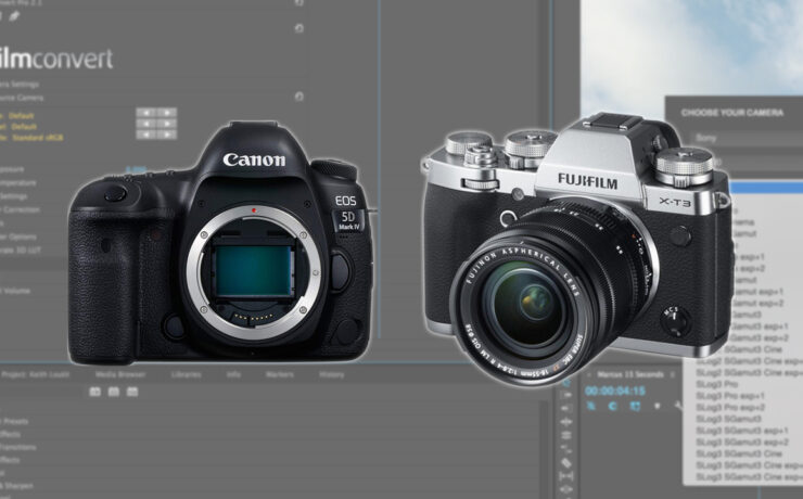 FilmConvert Pro / Nitrate FUJIFILM XT-3 and Canon 5D Mark IV Camera Packs