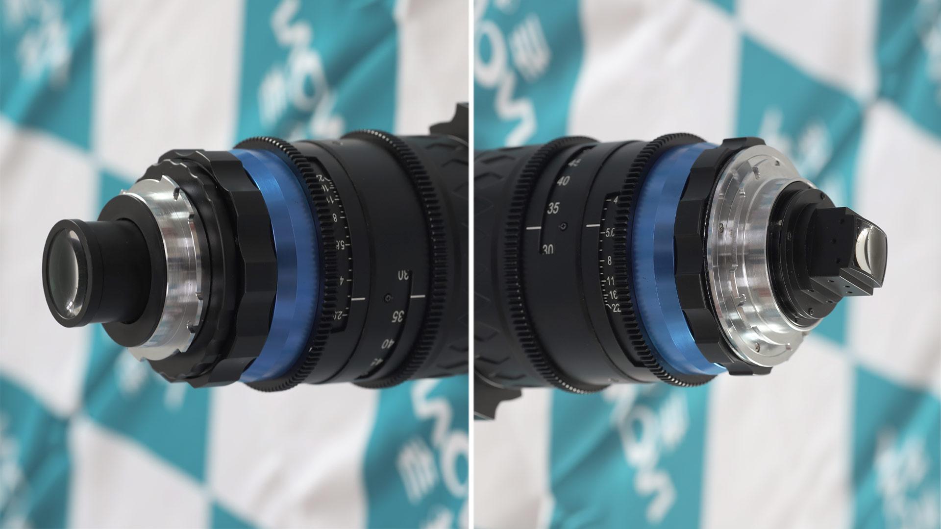 Lente zoom de cine Laowa OOOM - adelanto del adaptador anamórfico trasero 1.33x y expansor 1.4x