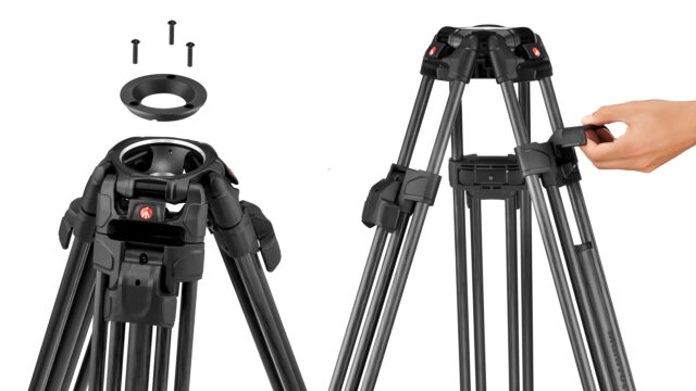 Manfrotto 645 FTT Carbon Fibre Twin Leg Tripod With Quick Deploy Legs