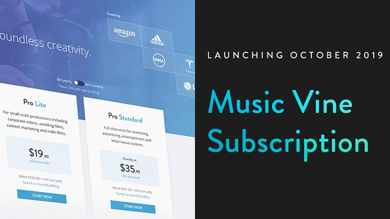 Music Vine anuncia modelos de precios de suscripción para profesionales y creadores