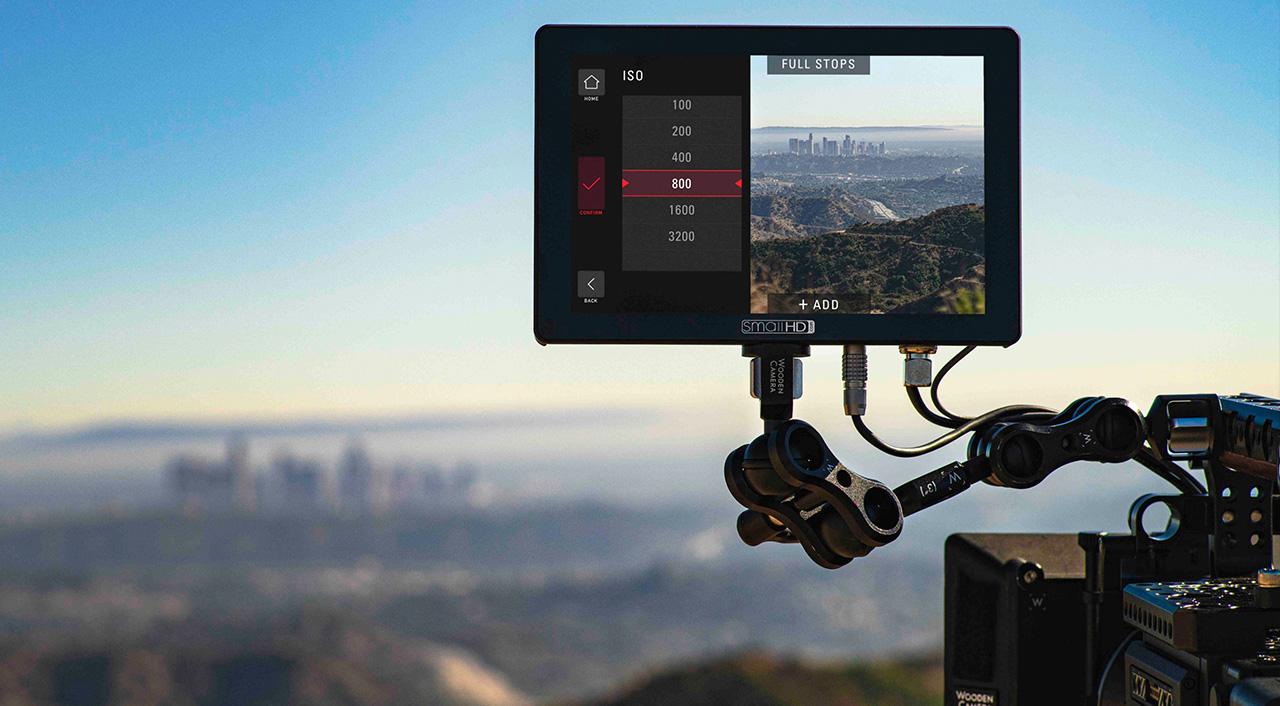 SmallHD Cine 7 agrega el control de cámara para las RED DSMC2