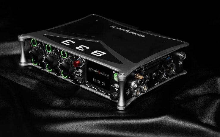 Sound Devices 833 Announced - Portable Compact Mixer-Recorder