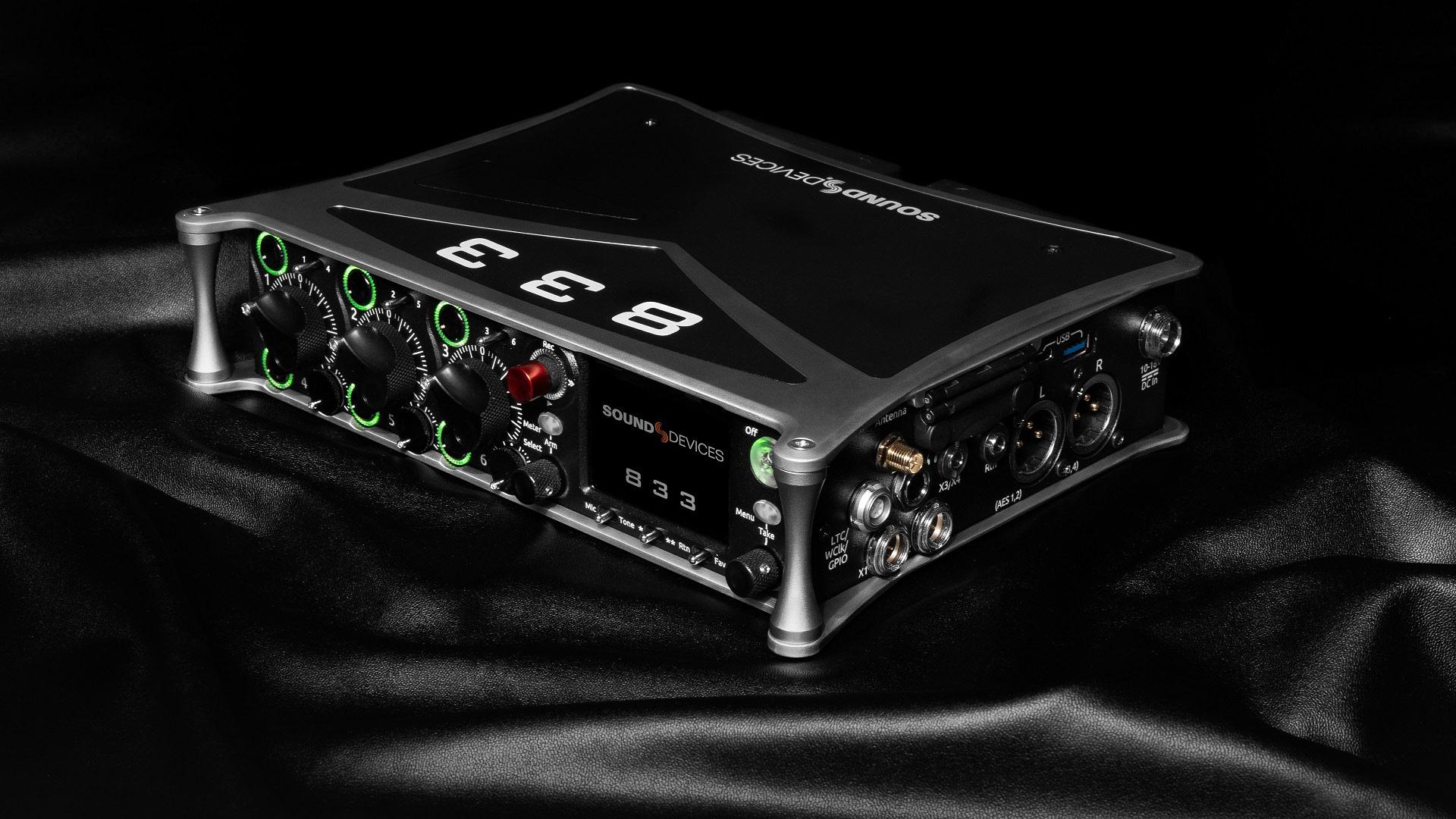 Anuncian el Sound Devices 833 - mezclador-grabador compacto portátil
