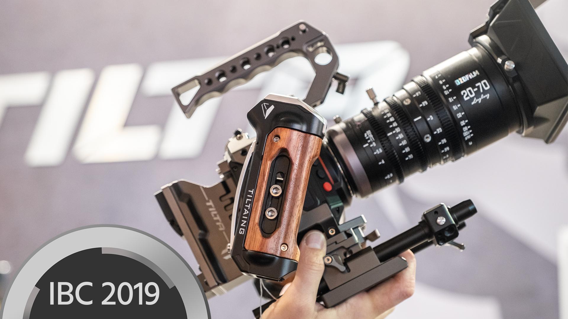 Armazón Tiltaing Z Cam y adaptador de baterías V-Mount a NPF - Aparejos para la pequeña cámara