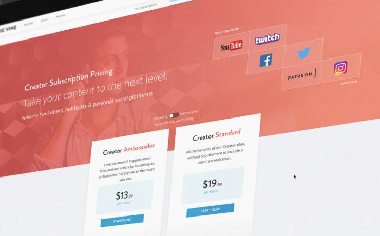 Music Vine Launches Subscription Plans for Pros & Creators