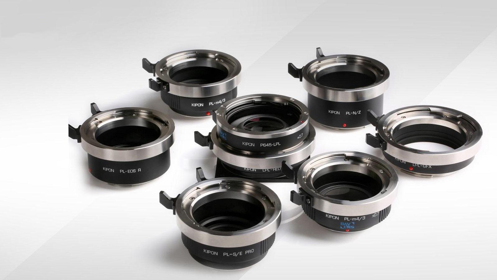 KIPON lanza adaptadores PRO Cine para lentes con montura PL y LPL y lentes de formato medio