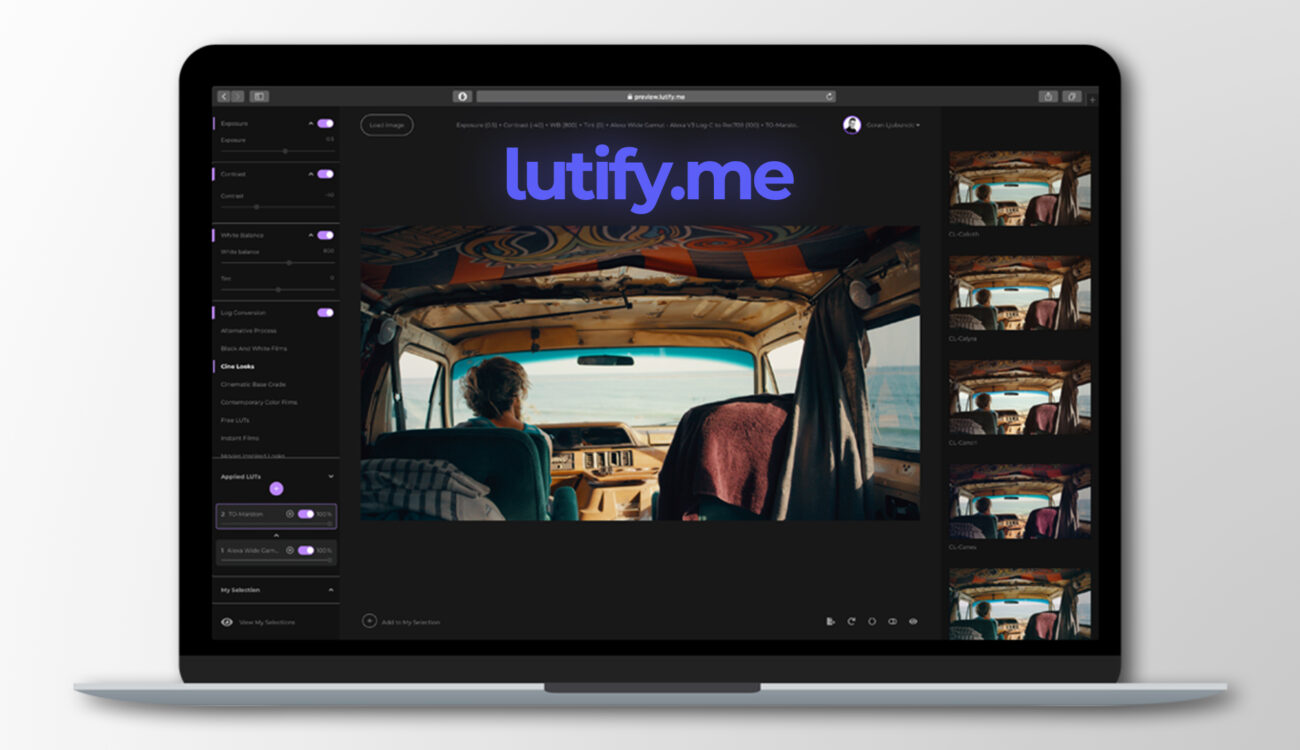 Lutify.me Update – You Now Can Export Created LUTs Directly