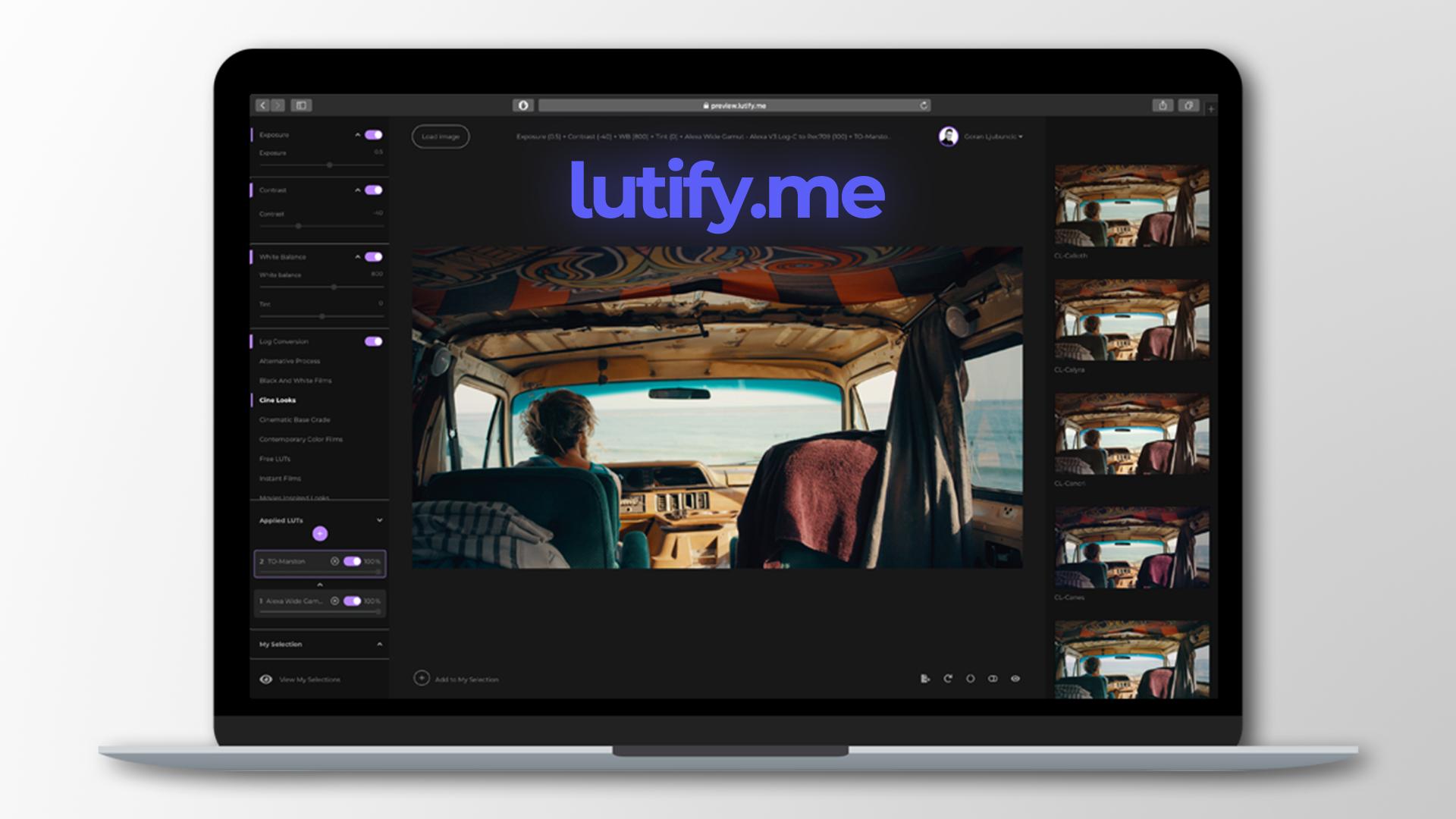 Actualización de Lutify.me - ahora puedes exportar las LUTs creadas directamente