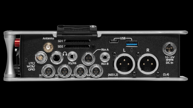 Sound Devices 888 - Right Side - Connectivity Options (Credits: Sounds Devices)