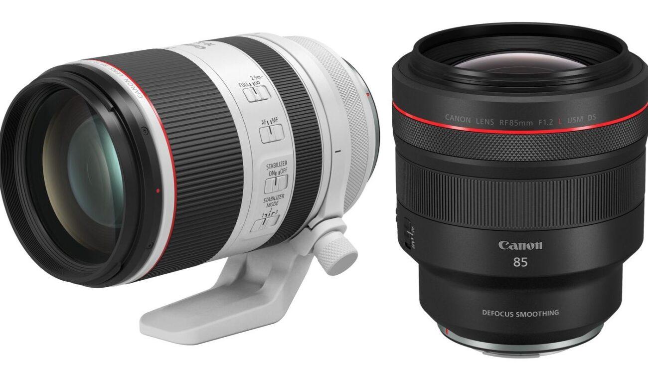 New Canon RF Lenses - RF 70-200mm f/2.8L IS USM and 85mm f/1.2L USM DS