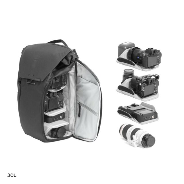 peak design eveyday line v2 backpack camera lenses