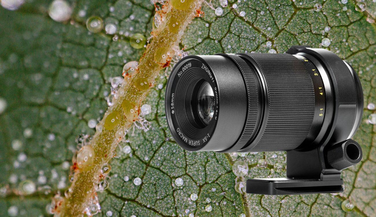 Obiettivo Zhongyi Mitakon 20mm f/2 4.5X Super Macro per
