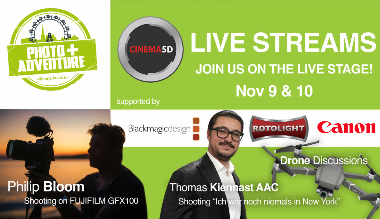 cinema5D Stage @ Photo+Adventure, 9th & 10th November 2019