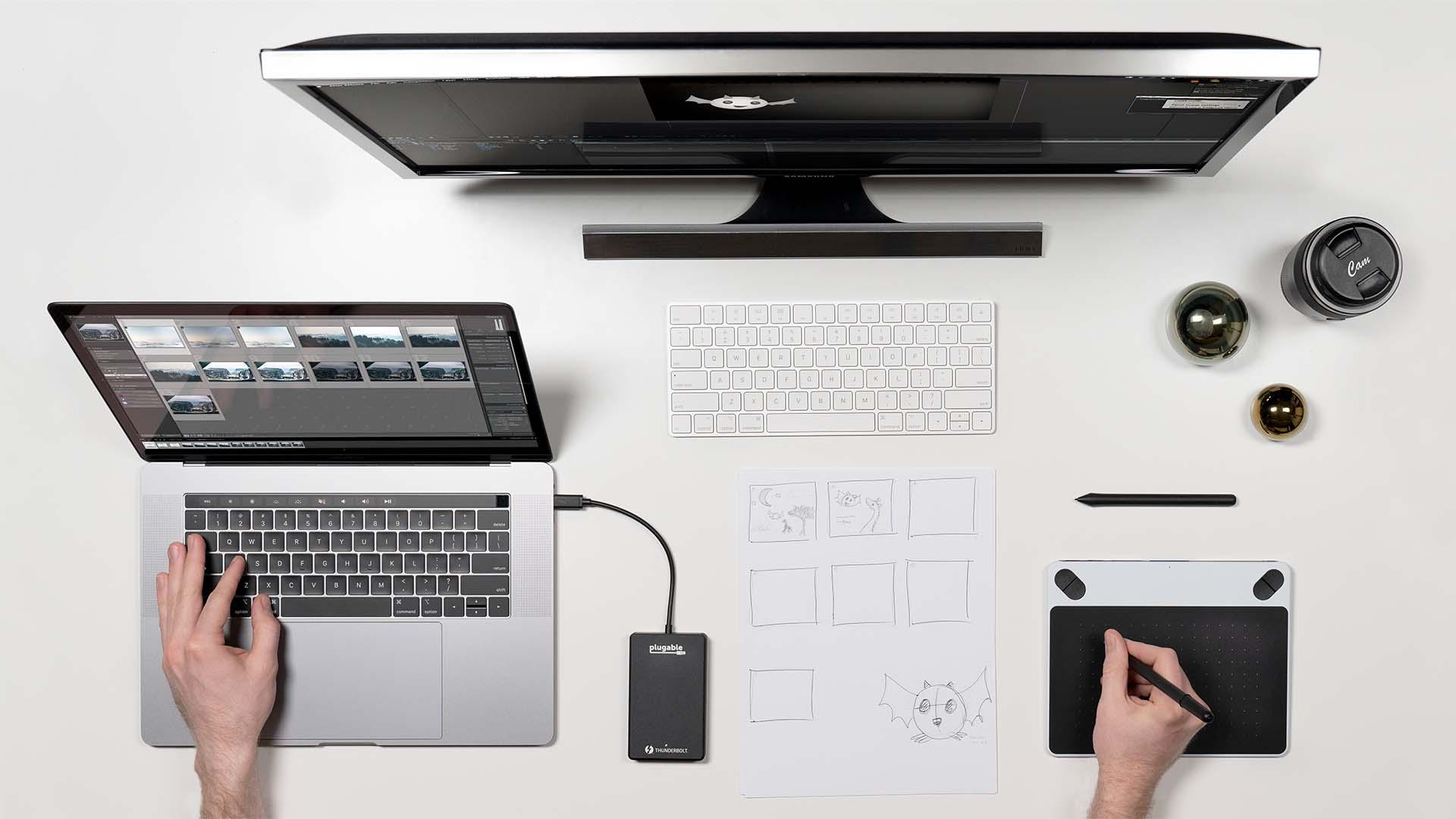 Unidad Plugable Thunderbolt 3 - SSD portátil increíblemente rápido para cineastas