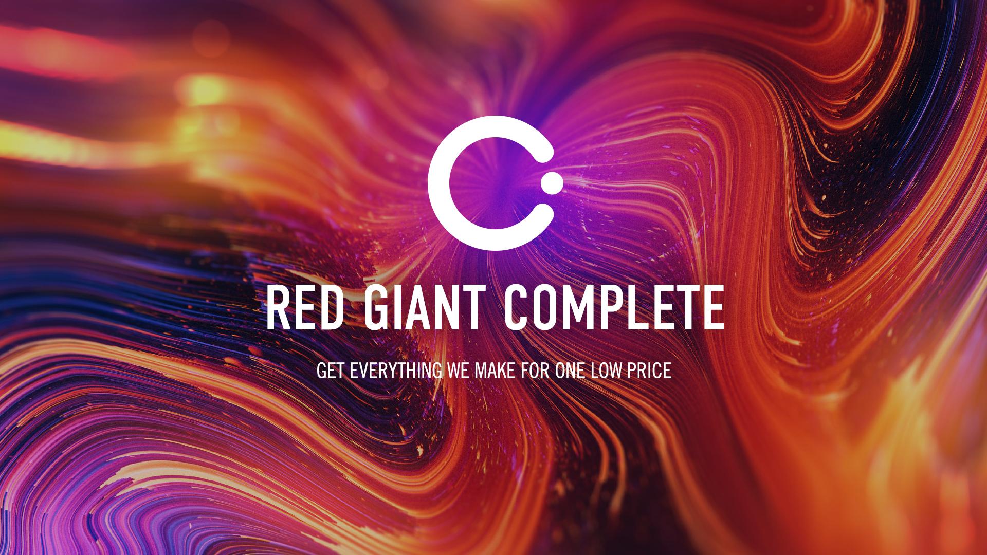 Red Giant Complete - suscríbete a las herramientas que tu programa de edición desearía haber tenido