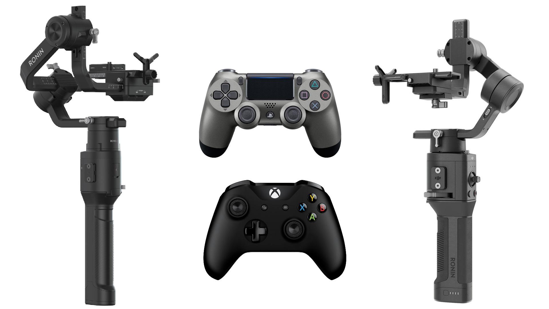DJIのRonin-SとRonin-SCがPS4 と Xboxのリモコンをサポート