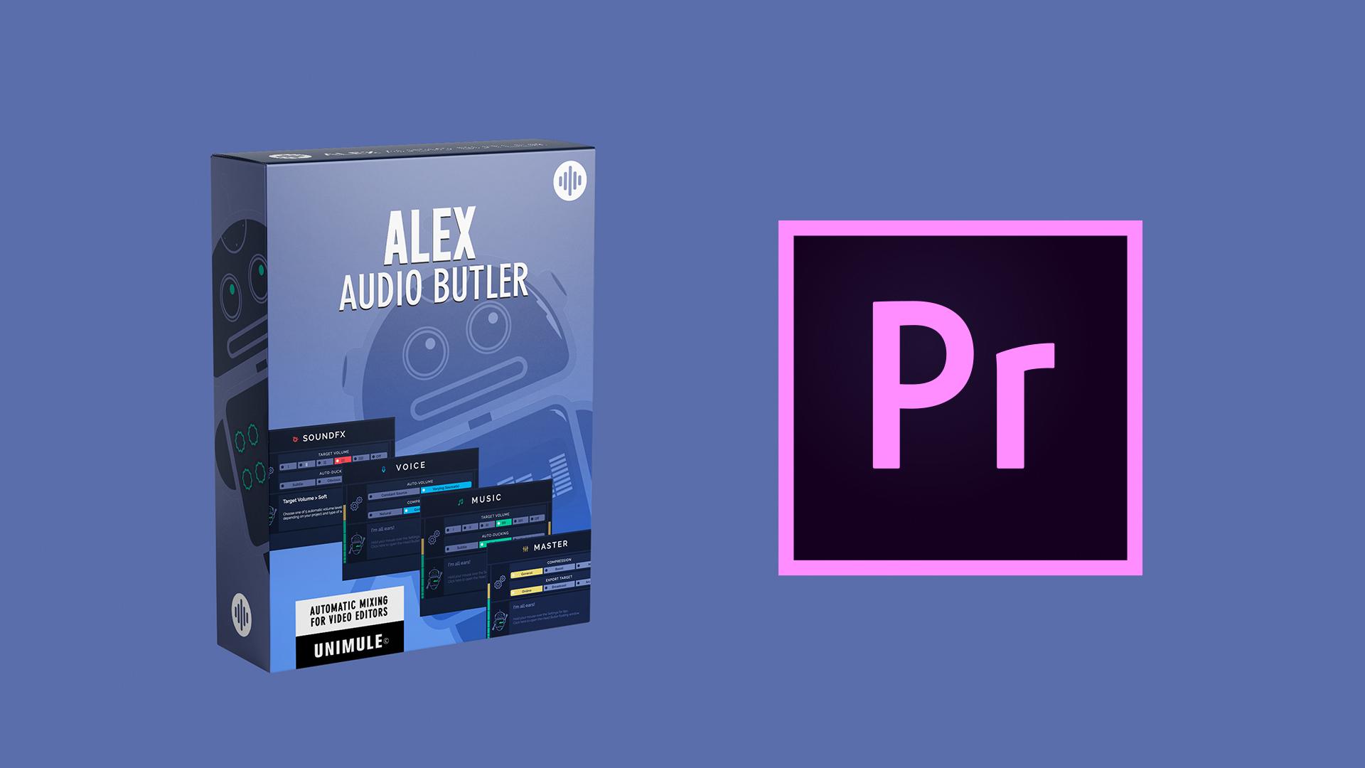 Alex Audio Butler - mezcla automáticamente música y voces en Adobe Premiere Pro - primera impresión