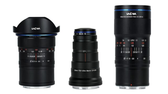 Laowa 12mm Zero-D, 25mm and 100mm Ultra Macro Lenses – Now Also for Nikon Z and Canon RF