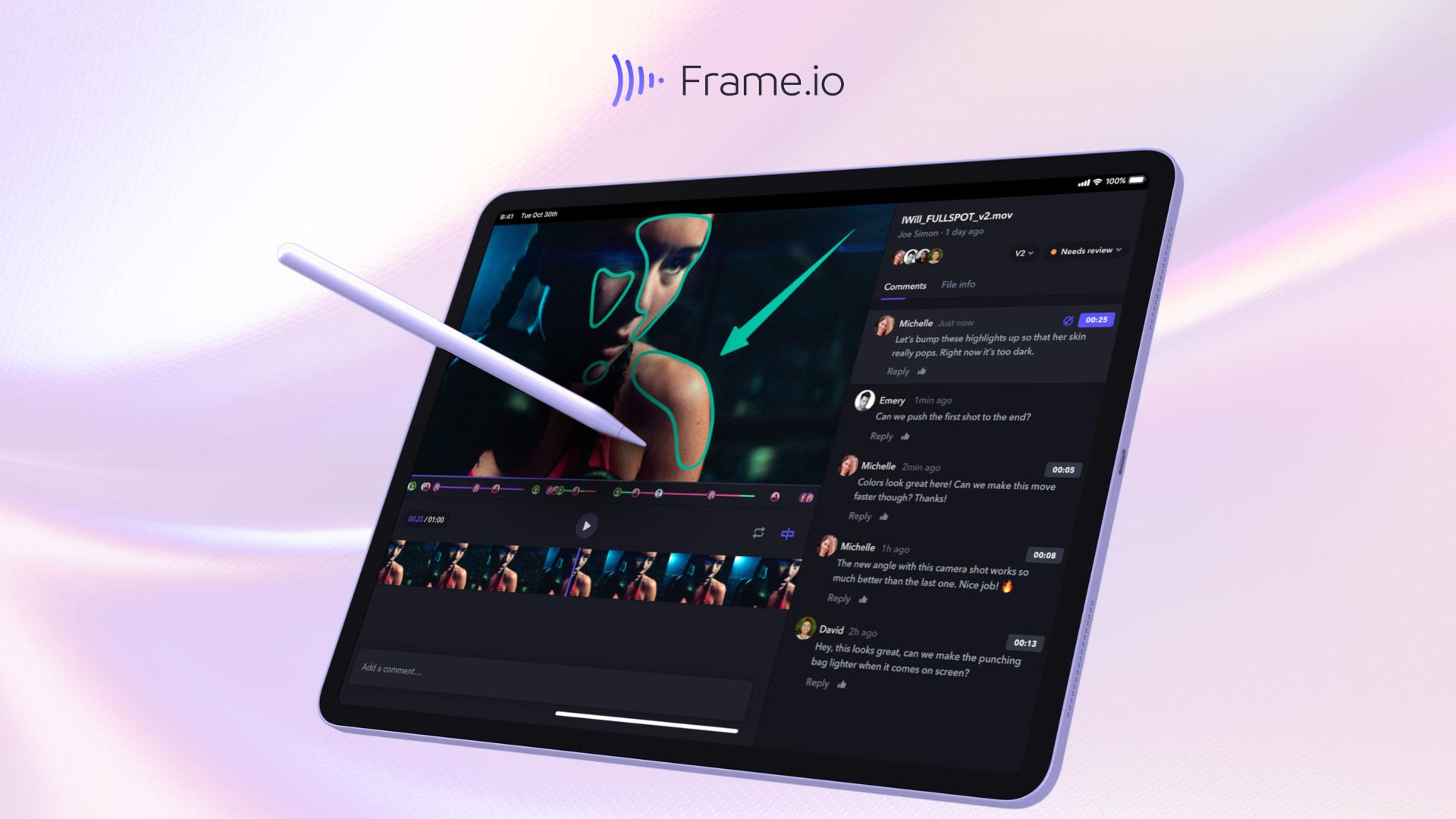 Anuncian versión de Frame.io para iPad