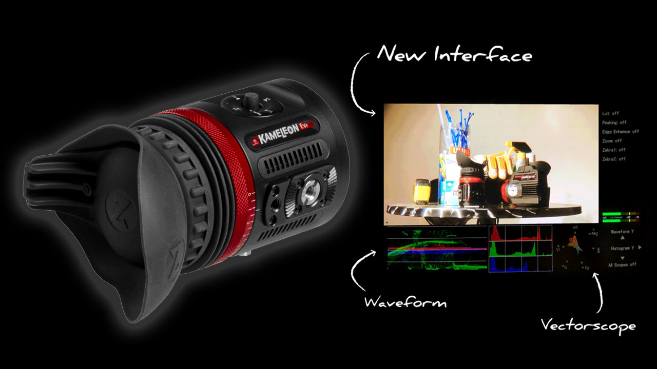 Zacuto Announces Kameleon EVF Pro - Now with Waveform