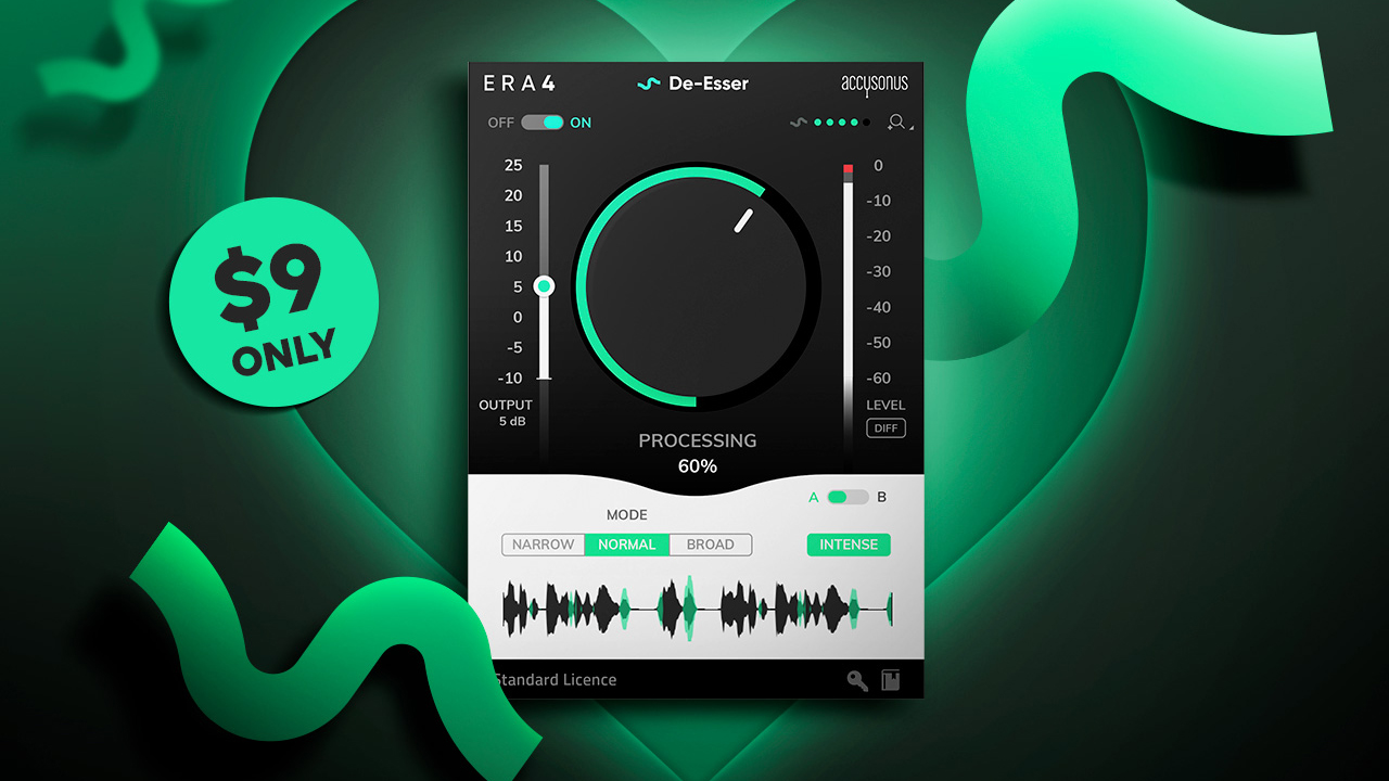 ERA 4 De-Esser Plugin – Limited Offer: $9 Instead of $59