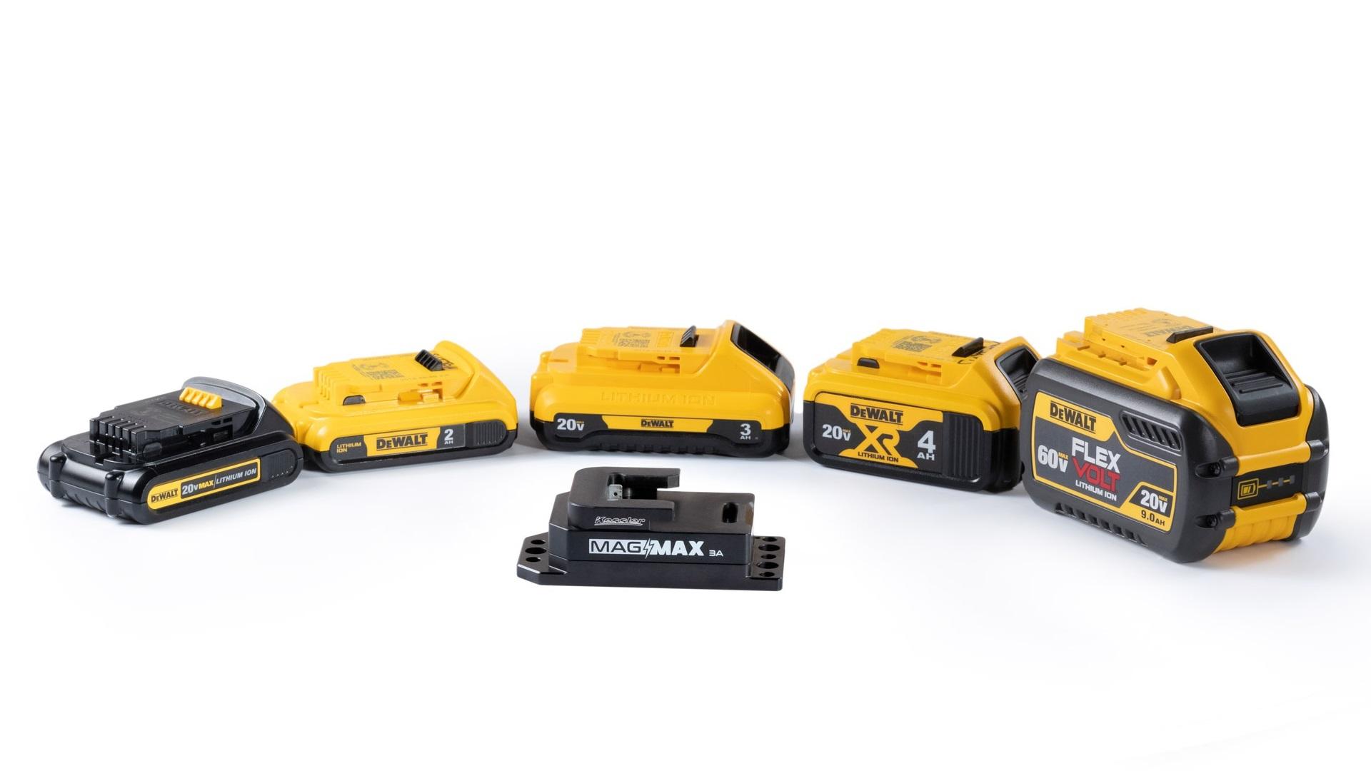 Adaptador Kessler Mag Max 3A - usa baterías asequibles DeWalt para tu equipo de cámara