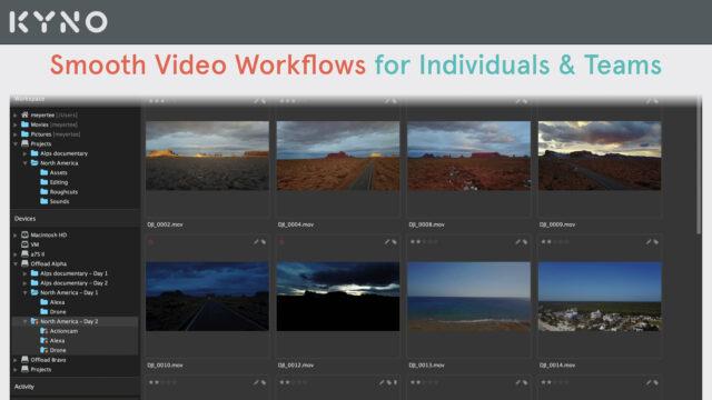 Kyno - Smooth Video Workflows for Individuals & Teams (Image Credits: Kyno)