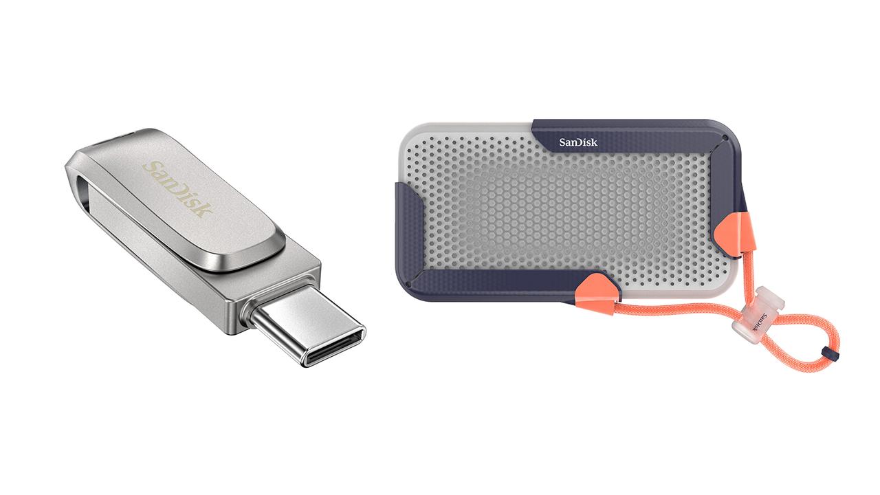 SanDisk muestra un prototipo de SSD portátil de 8 TB y una unidad flash USB Ultra Dual Drive Luxe de 1 TB