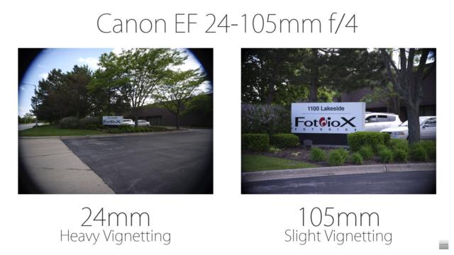 Fotodiox Fujifilm GFX lens adapter vignette test FotodioX Vizelex Cine ND
