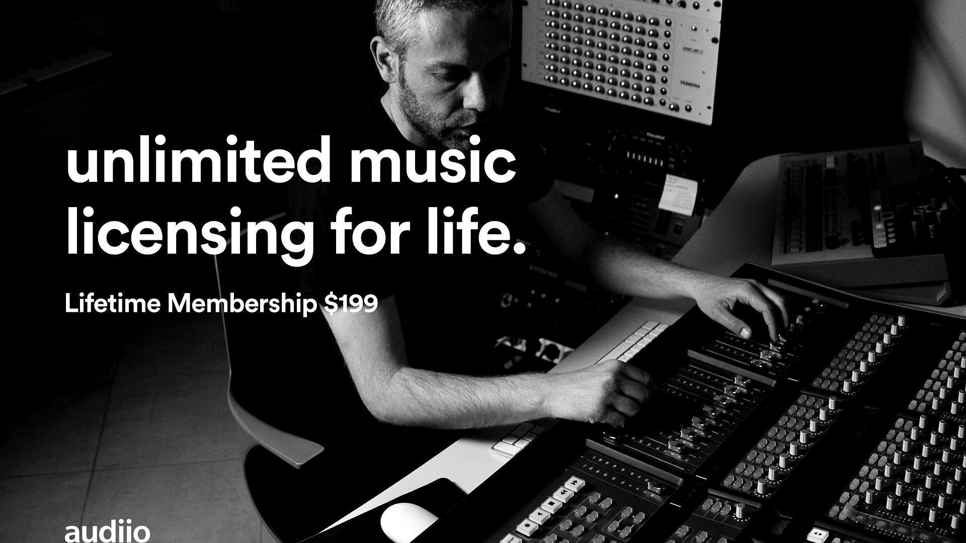 Audiio - nueva plataforma de licencias de música que ofrece una membresía de por vida de $ 199
