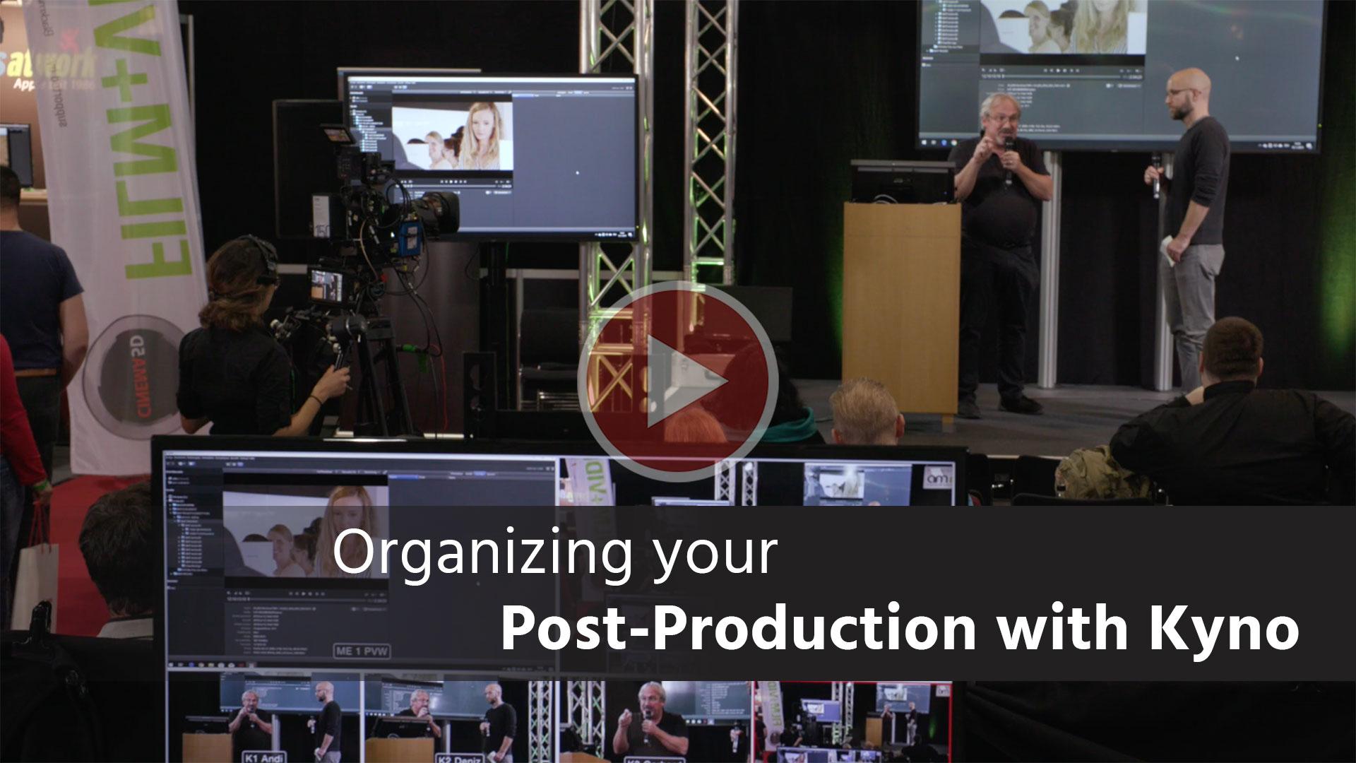 Taller de Kyno: organizando el flujo de trabajo en postproducción (descuento incluido)