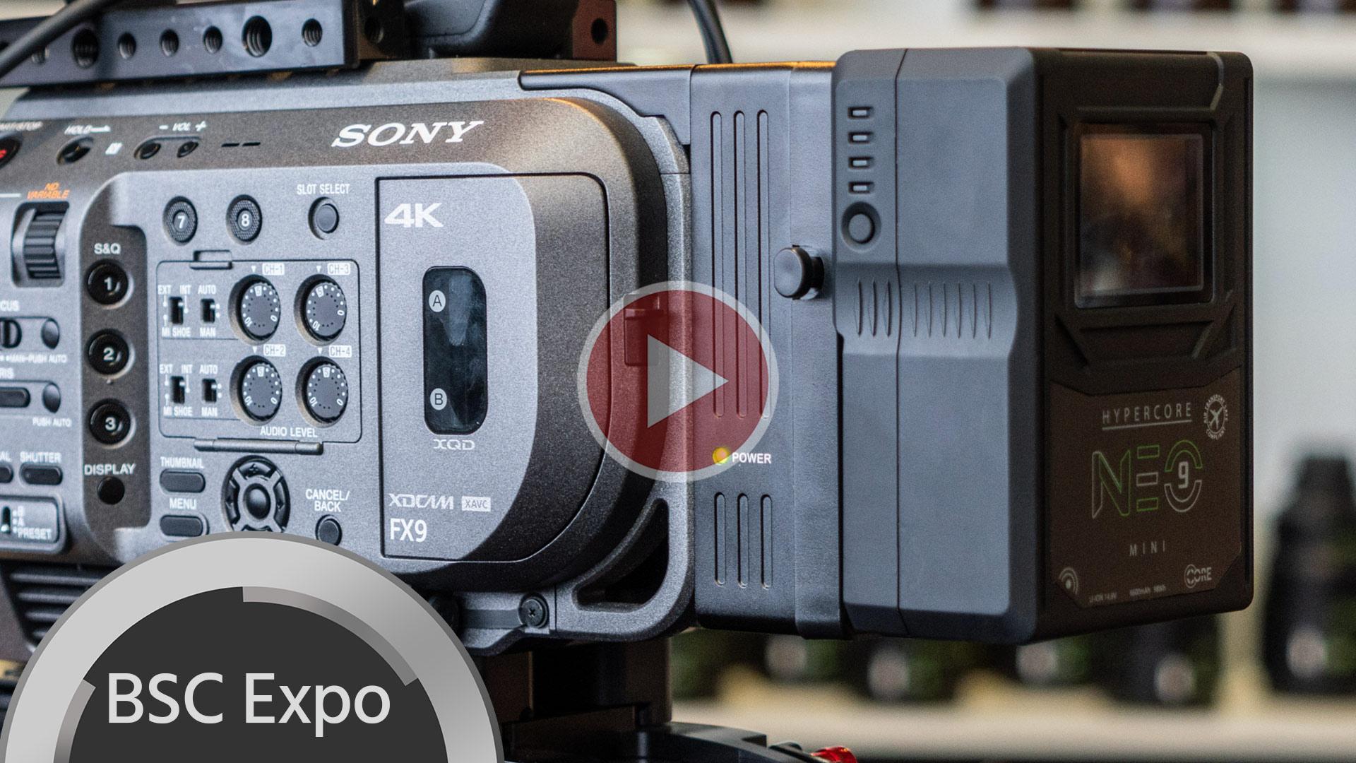 Placas de batería Core SWX V-Mount y Gold Mount para Sony FX9