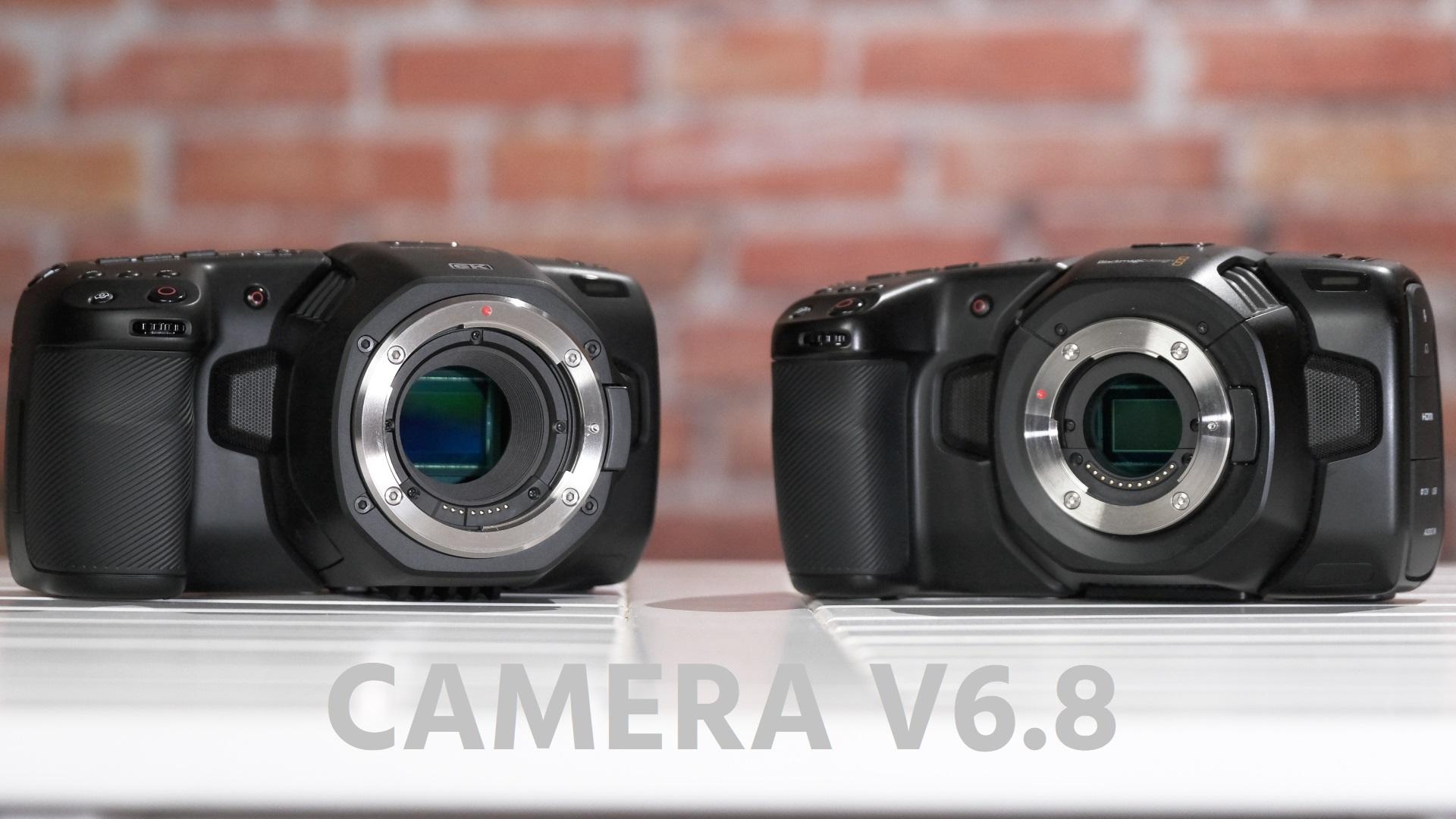 La Blackmagic Pocket 4K y la 6K reciben una nueva actualización de firmware V6.8