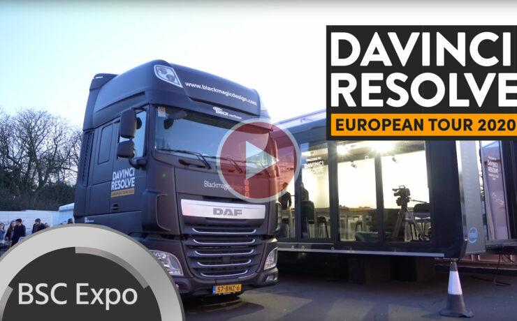 First Look at the DaVinci Resolve European Tour 2020