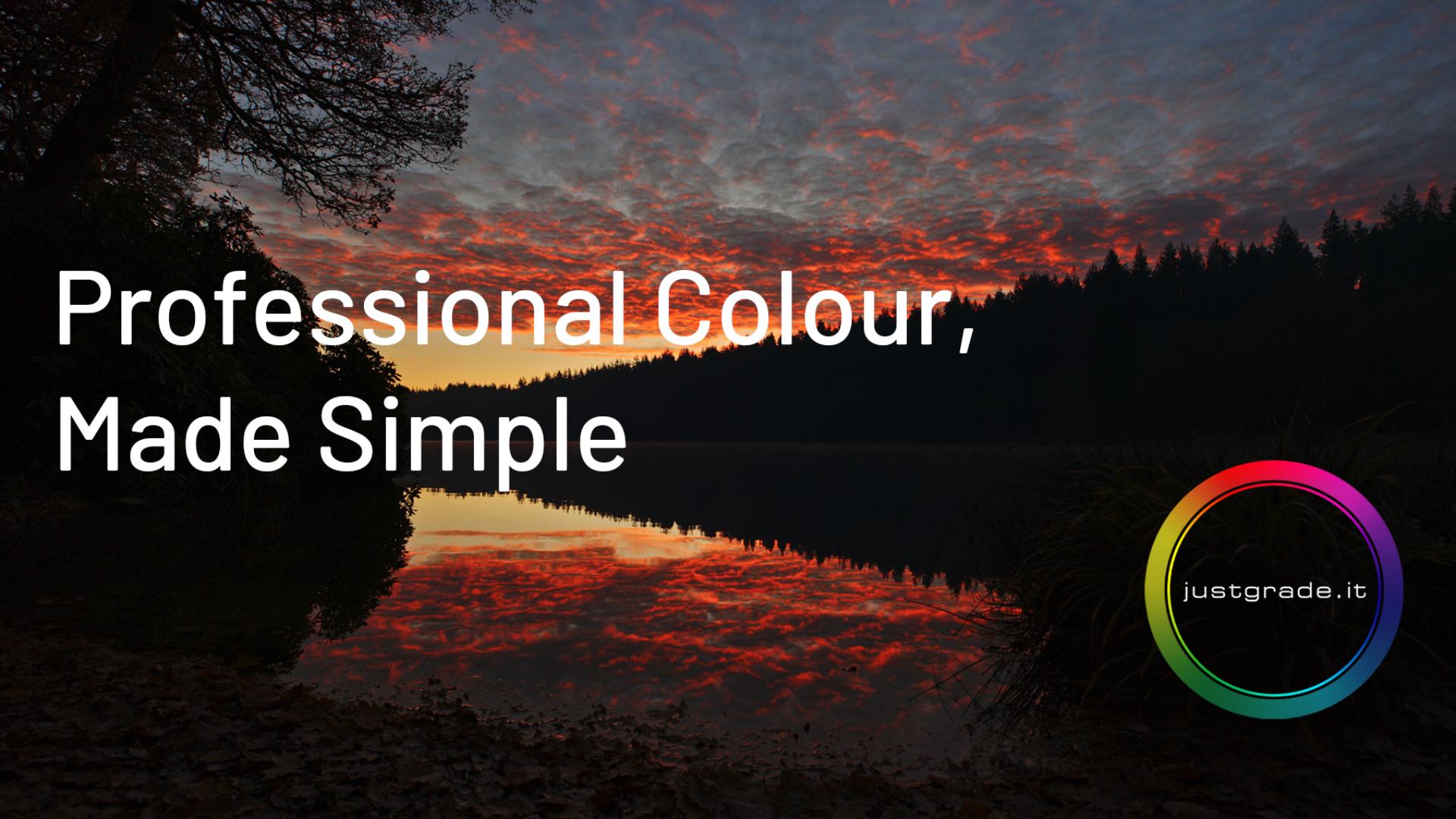 JustGrade.it - Nuevo servicio en línea para corrección de color hecha por profesionales