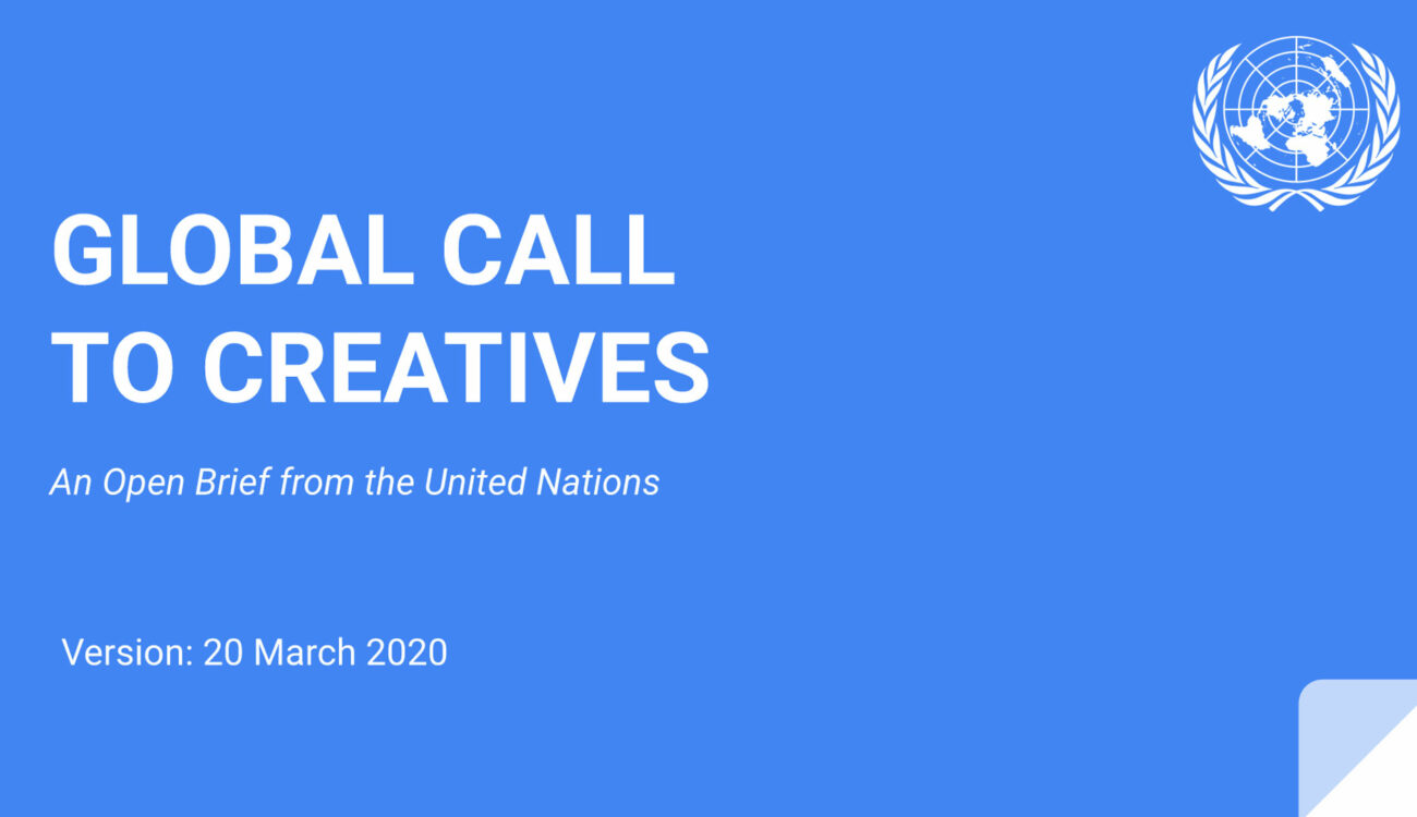 The United Nations Calls On The Global Creative Community