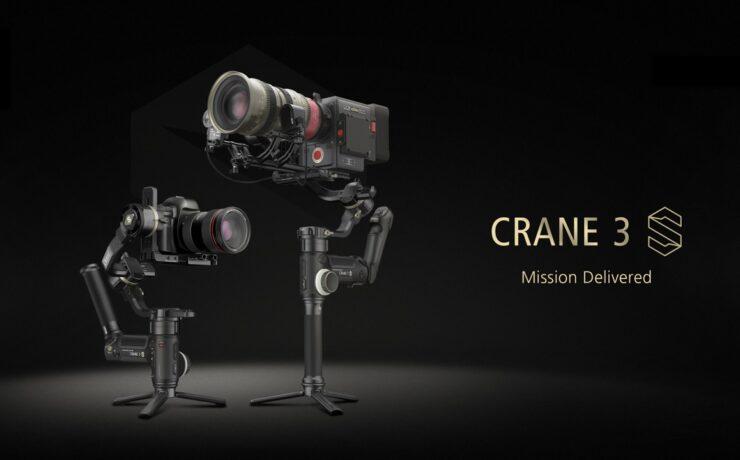 Zhiyun CRANE 3S Gimbal Announced - Higher Payload for Cinema Cameras