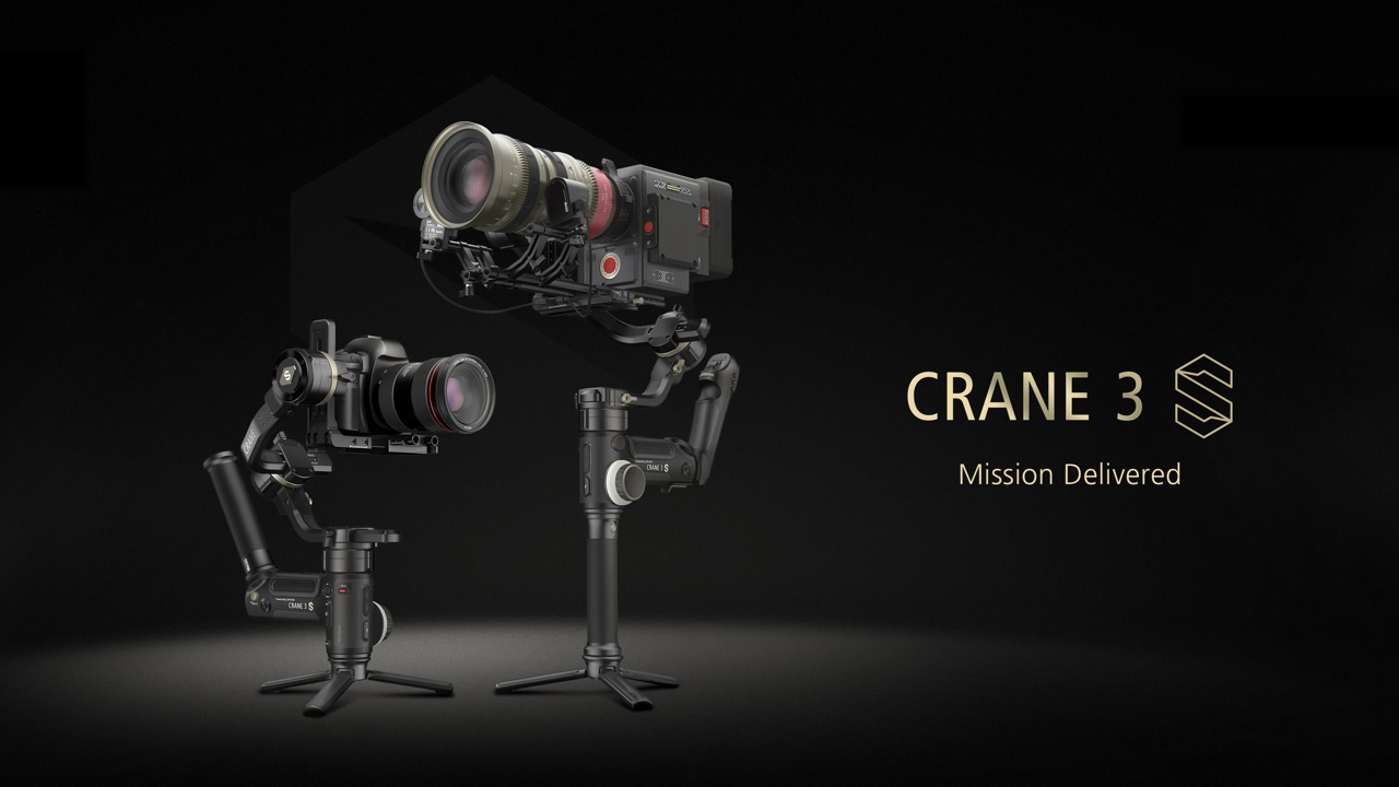 Zhiyun CRANE 3S Gimbal Announced - Higher Payload for Cinema Cameras