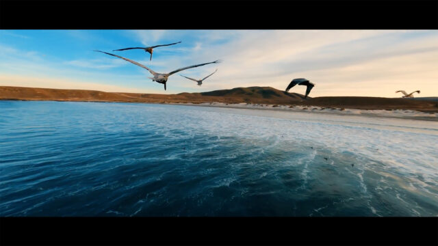 One of the many highly cinematic shots taken with a GoPro camera in Abe Kislevitz's Daydreams video. Image credit: Abe Kislevitz