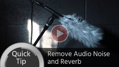 Quick Tip: Remove Audio Background Noise and Reverb Easily