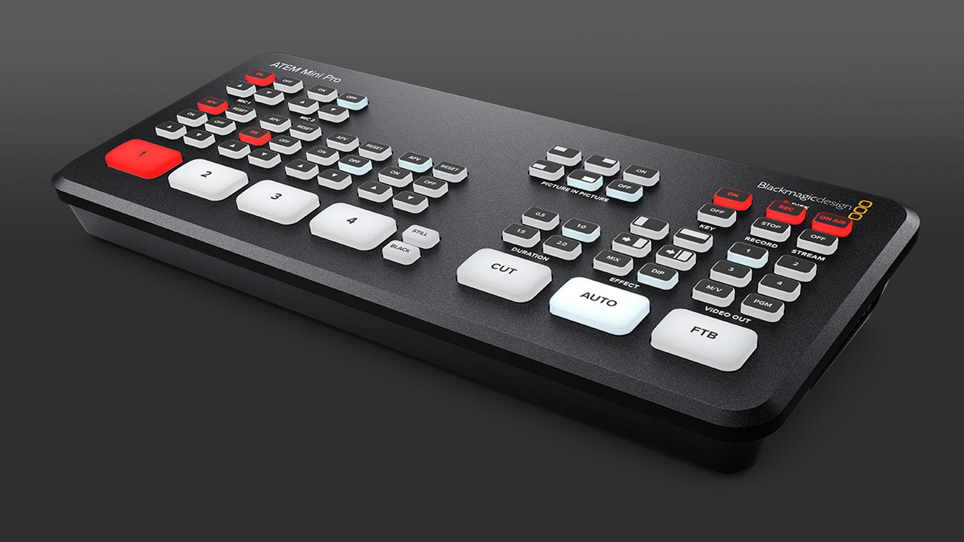 Blackmagic Design anuncia el ATEM Mini Pro y actualizaciones para el Hyperdeck Studio Mini y BMPCC