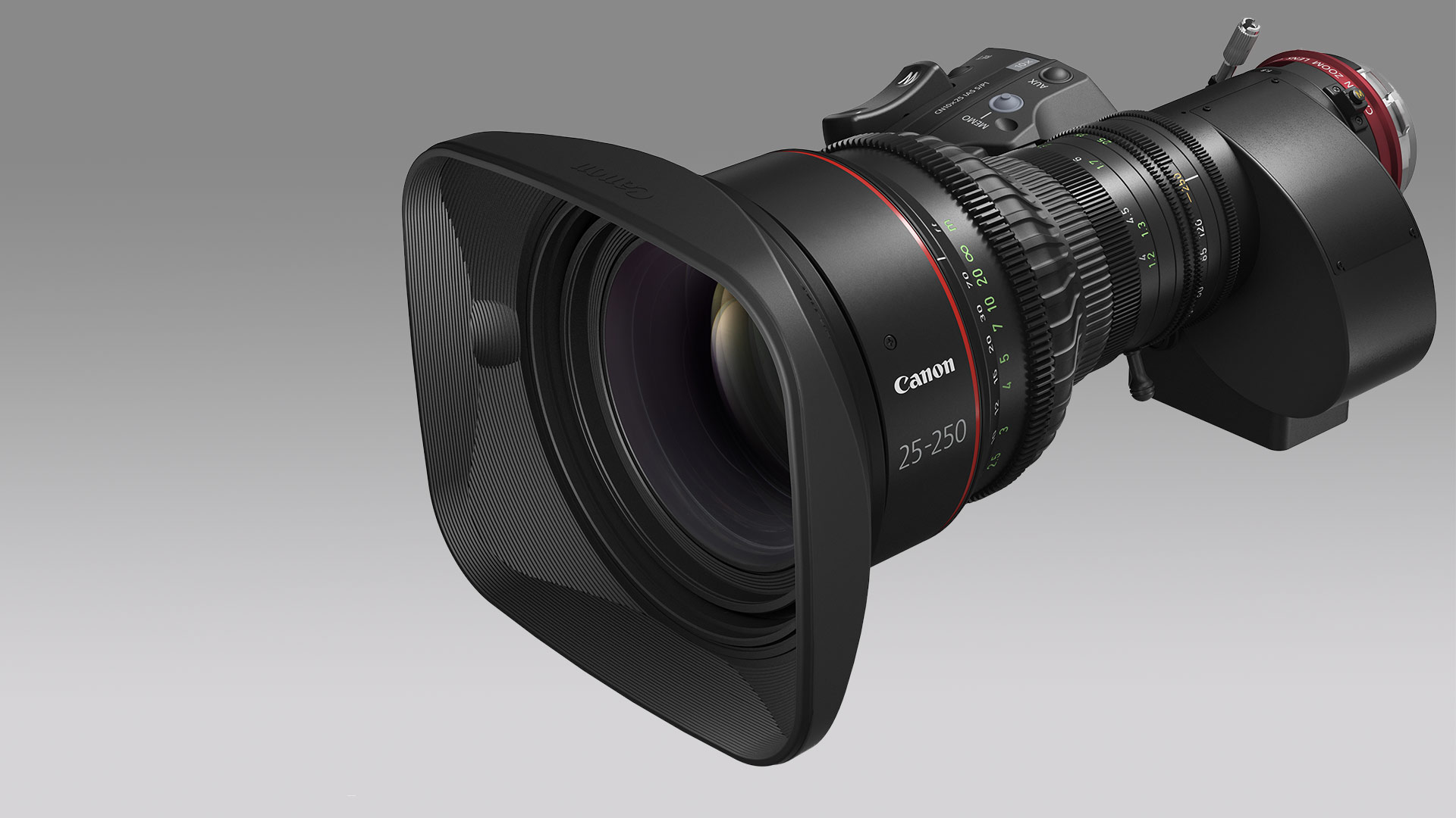 Canon anunció un nuevo lente servo de cine 25-250 mm 10x  y actualizaciones de firmware