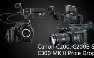 Cámaras y kits Canon EOS C200, C200B y C300 Mark II ya están a la venta en B&H