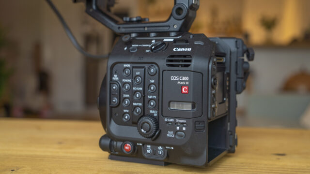 Canon EOS C300 Mark III. Can't buy one yet.