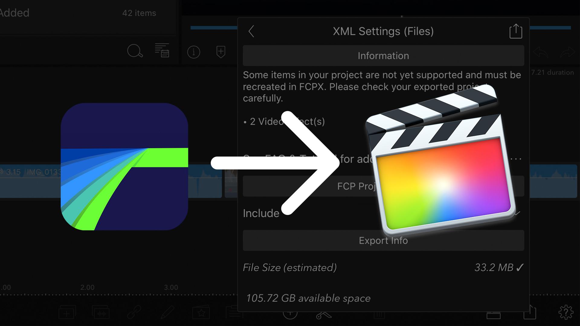 Edita en iPad y termina en computadora exportando un FCPXML desde LumaFusion