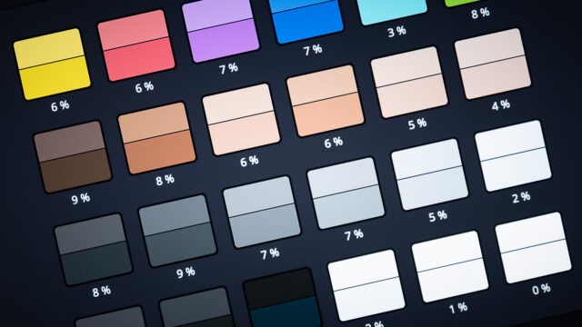DaVinci Resolve's Color Match Feature using Reference Charts