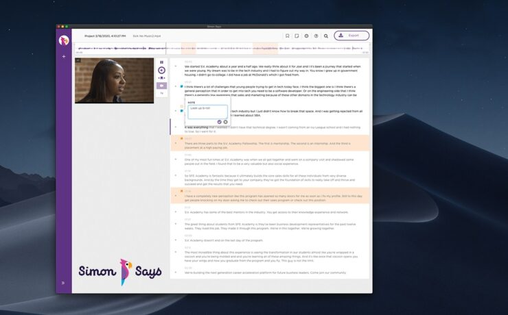 Simon Says Transcription Software - New Version Launched