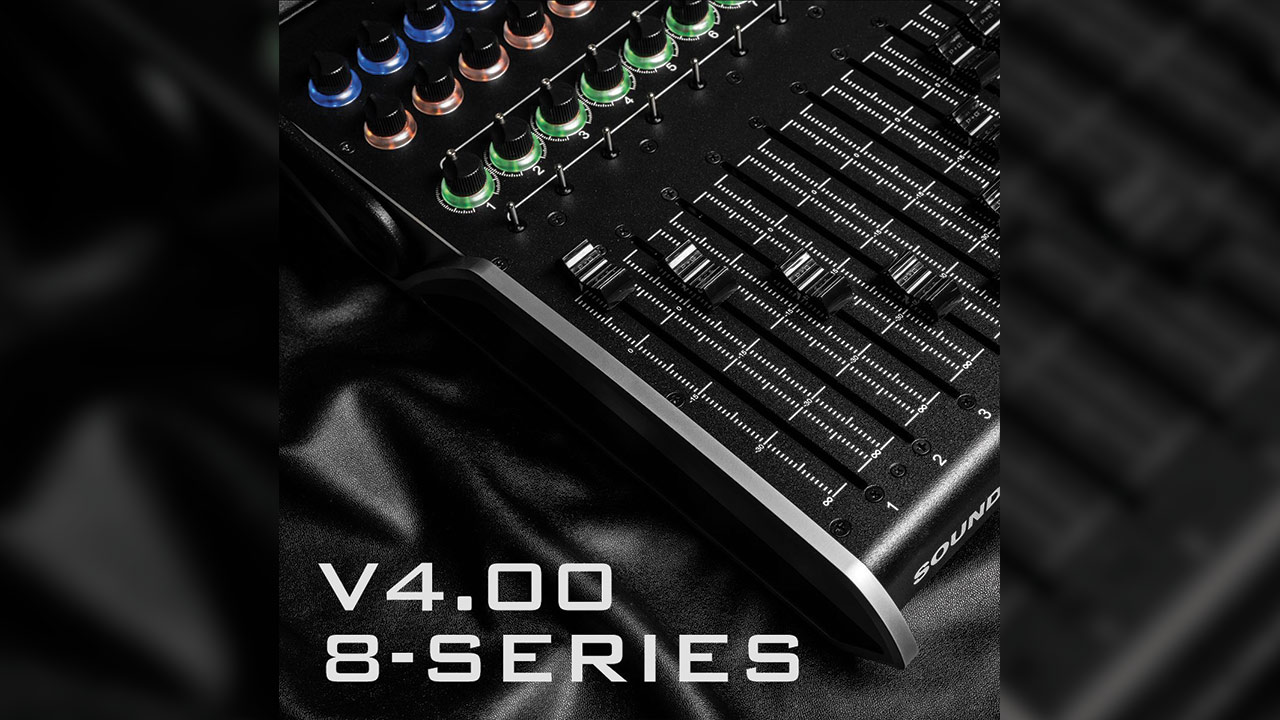 El firmware v4.00 de Sound Devices 8 Series admite la Superficie de Control CL-16