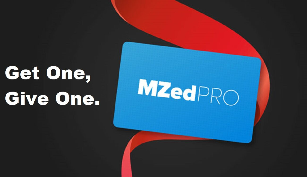 MZed Special Offer - Get One Pro Membership, Give One Free