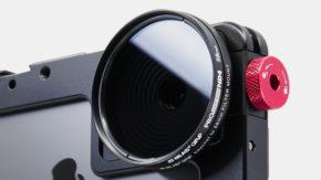 Beastgrip Pro Series ND 4 filter on iPhone